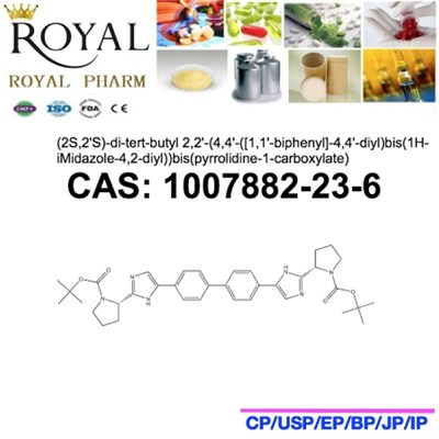 (2S,2''S)-di-tert-butyl 2,2''-(4,4''-([1,1''-biphenyl]-4,4''-diyl)bis(1H-iMidazole-4,2-diyl))bis(pyrrolidine-1-carboxylate)