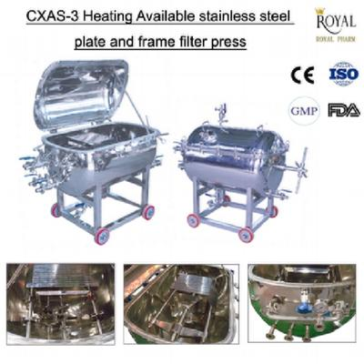 CXAS-3 Heating Available Stainless Steel Plate And Frame Filter Press