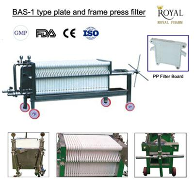 BAS-1 Type Plate And Frame Press Filter