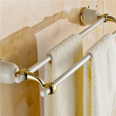 Brass And SS Double Towel Bars