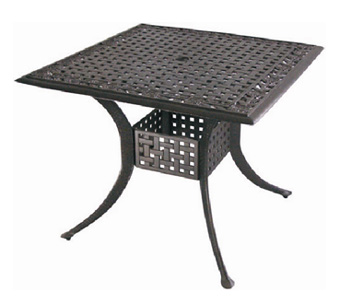 Polyrattan Square Dining Table
