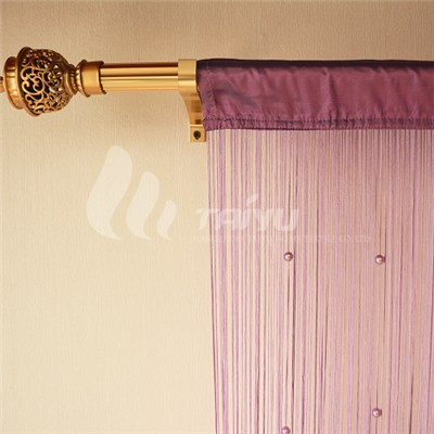 Single Color String Curtain With Beads