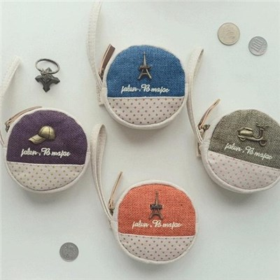 2015 Creative Cotton Round Zero Wallet Restoring Ancient Ways Hand Bag Coin Bag South Korean Cute Key Package,Welcome To Sample Custom