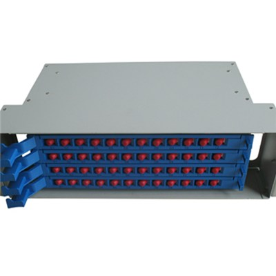 48 Fiber SC/ST/FC/LC Adapters Fiber Optic Splicing And Distribution Unit
