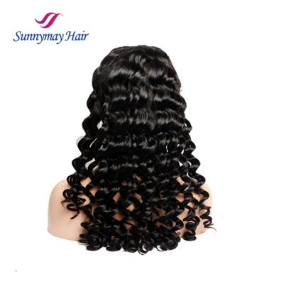 Premium High Grade Loose Curly Brazilian Hair Lace Front Wig Human Hair Lace Wig In Stock