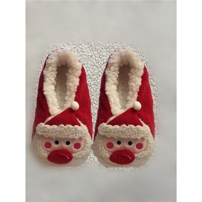 3D Santa Cozy Slipper Sock Gift For Christmas