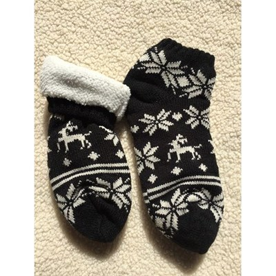 Custom Snowflake And Reindeer Home Socks