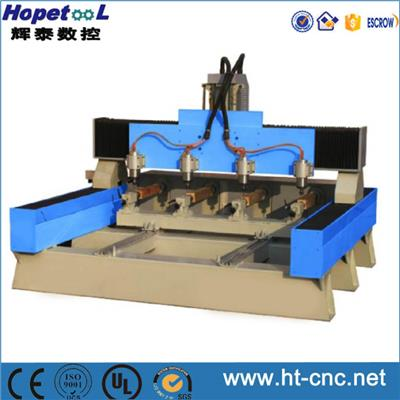 Four Heads Cylinder CNC Router