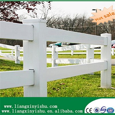 hot sale 2rail PVC Horse Fence