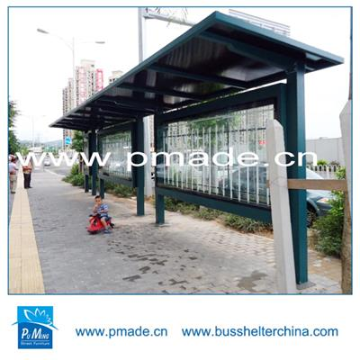 Outdoor furniture #304 stainless steel bus station shelter for sale