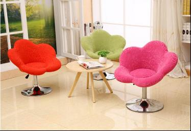 Flower Fabric Shape Bar Stool