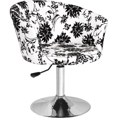 Fabric Flower Images Bar Stool