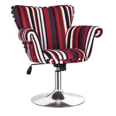 Modern Fabric Adjustable Bar Stool With Armrest