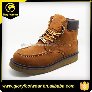 Cow Suede Leather Goodyear Welt Safety Shoes