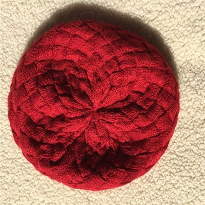 Ladies Knit Hat Beanie Red