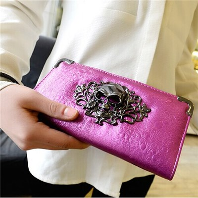 Han Edition Fashion After 2015 The Wallet Skull Raindrop Tattoos Hand Bag Ms Long Wallet,Welcome To Sample Custom