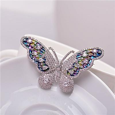 2015 Colorful Butterfly Brooches, Han Edition Women''s Delicate Copper Crystal Brooches,Welcome To Sample Custom