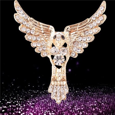 2015 Europe And The United States And Generous Personality Full Drill Eagle Brooch, Fashionable And Generous New Brooch Ornaments,Welcome To Sample Custom