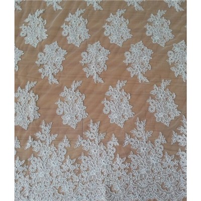 Wedding Lace Embroidery Lace Fabric Embroidered W9012 By The Yard (W9012)