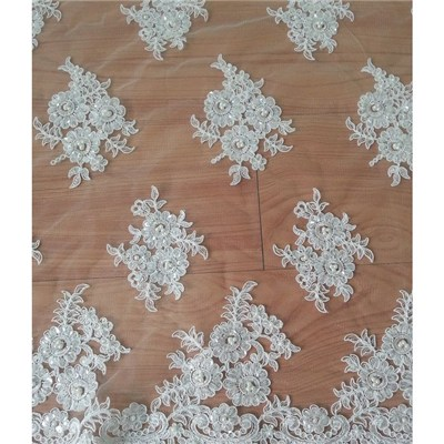 W9015 Chantilly Lace Wedding Gowns Lace Fabric .(W9015)