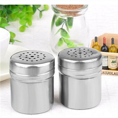 Creative Kitchen Stainless Steel Seasoning Cans, Seasoning Bottle Seasoning Box Barbecue Tools,Welcome To Sample Custom