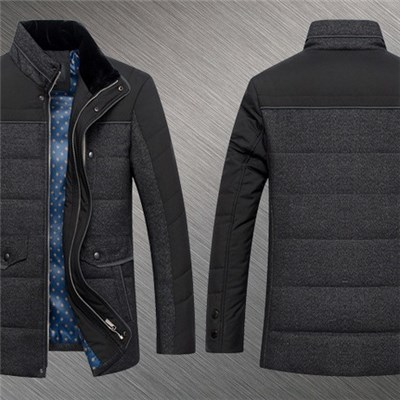 2015 Men New Winter Thickening Collar Business Leisure Cotton-padded Jacket, Middle-aged And Young Warm Contracted Fashion Coat