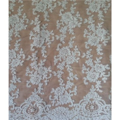 China Suppier Fashionable Bridal Lace Fabric (W9023)