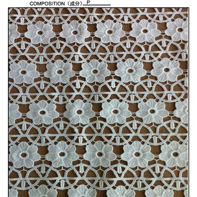 Guipure Leavers Design Chemical Lace Fabric (S8094)
