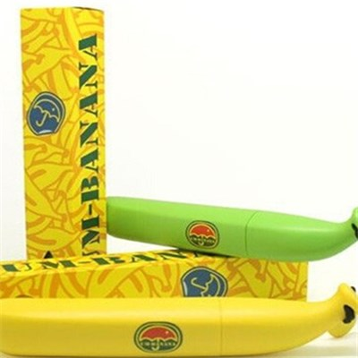 New Creative Anti-UV Sun & Rain Folding Umbrella Cute Portable Banana Umbrella (UM001)
