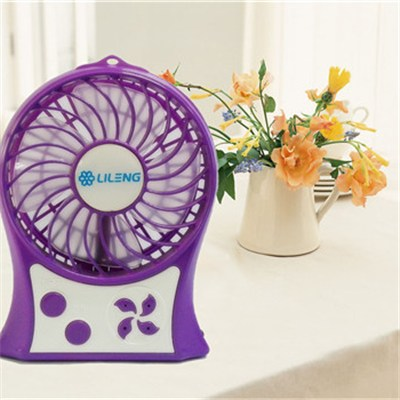 3inch Rechargeable Fan With Colorful Light And Power Bank Function(Lileng-852)