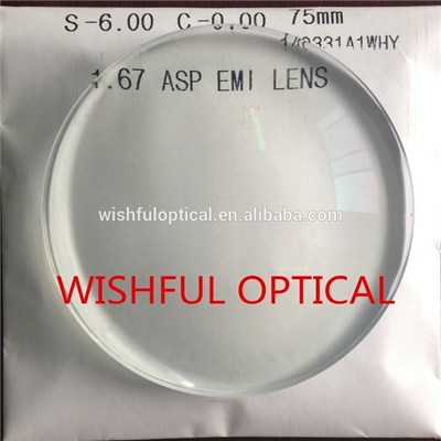 1.70 ASP Resin Lens Super Hydrophobic