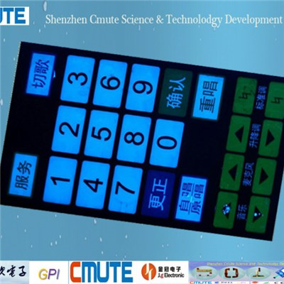 EL Backlit Membrane Switch GPI-BMMS-001
