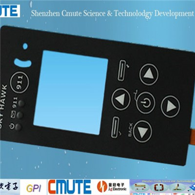 Clear Window Matte Finish Membrane Switch GPI-MS-003