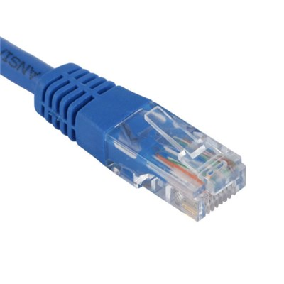 UTP Cat.6 Patch Cord Plain Molded Blue Color