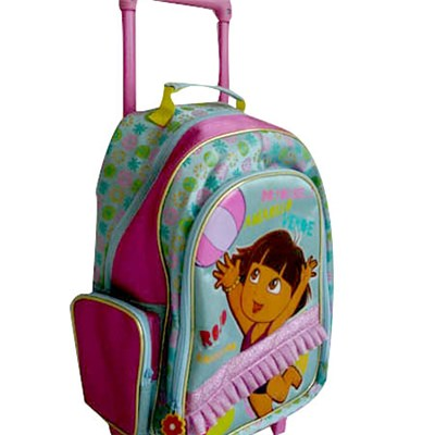 Trolly School Bag With Wheels &printing Pattern