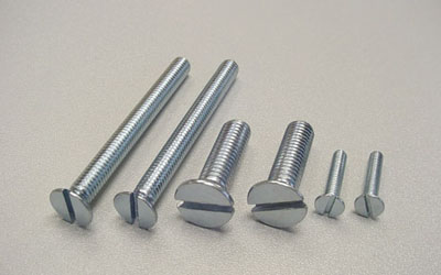 SLOTTED COUNTERSUNK (FLAT) HEAD SCREWS