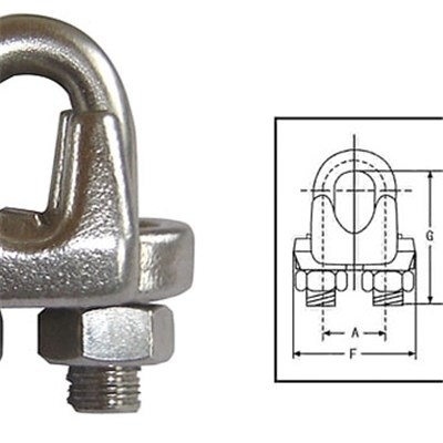 U.S. Type Drop Forged Wire Rope Clip (450)