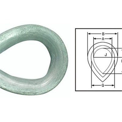 BS 464 Thimble Ordinary For Steel Wire Rope