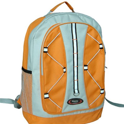 Backpack With Laptop Compartment &rubber Band Decoration