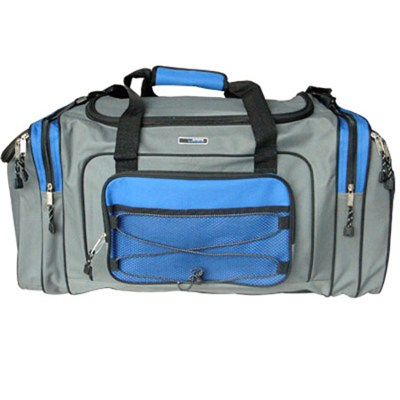 Sports Duffle Bag-Large, Royal Blue/Grey