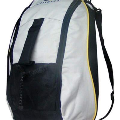 Black And Gray 600D Oxford Good Quality Sports Bag Backpack