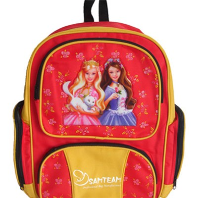 Micro-fiber Material School Backpack Girl''s Cute Lightweight Backpack