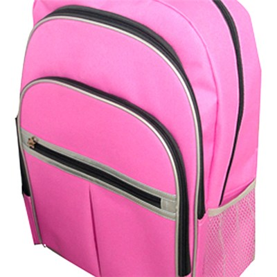 Zippered Pockets Backpack With Laptop Compartment
