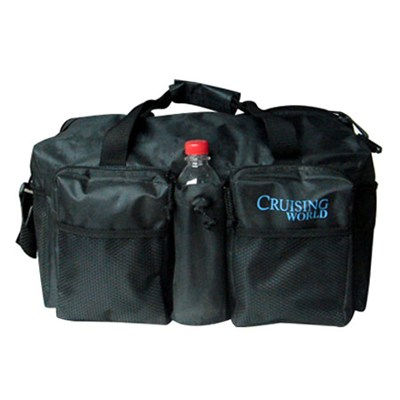 Travel Duffle Bag With Mesh Pocket & Bottle Holder