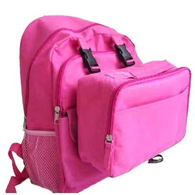 School Backpack Attached With Detachable Lunch Box