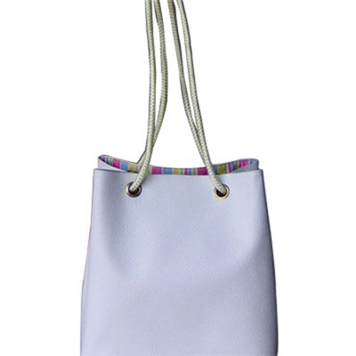 Lady White Rope Tote Bag With Large Roomy
