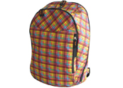 Rip-stop Fabric With Fully Check Print Backpack With Laptop Compartment