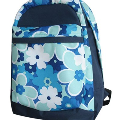 Fully Flowers Printed 600D Backpack For Girls Design