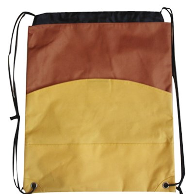 Cinch Sack Promotional Drawstring Backpack With 600D Colors Combination
