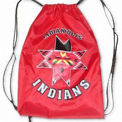 Cinch Sack Promotional Drawstring Bag Nylon Fabric Printed